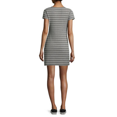 Arizona Short Sleeve Bodycon Dress-Juniors