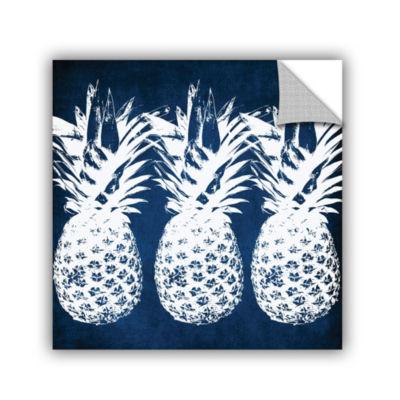 Indigo Pineapple Removable Wall Decal