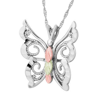 Black Hills Gold Landstroms Womens Sterling Silver Pendant Necklace