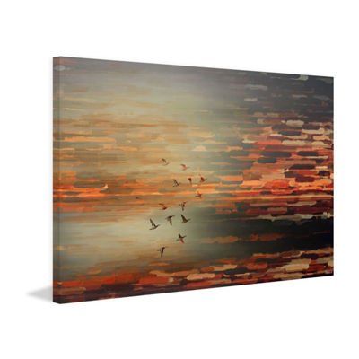 Night Flight Painting Print on Wrapped Canvas