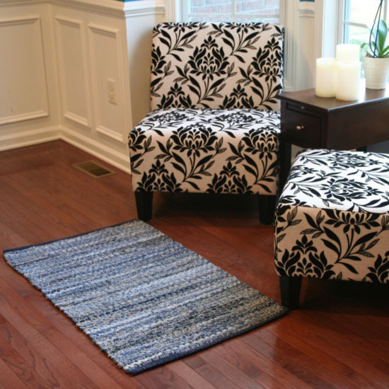 Denim Chindi Rectangular Accent Rug