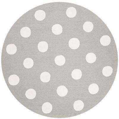 Safavieh Kids Collection Delbert Geometric Round Area Rug