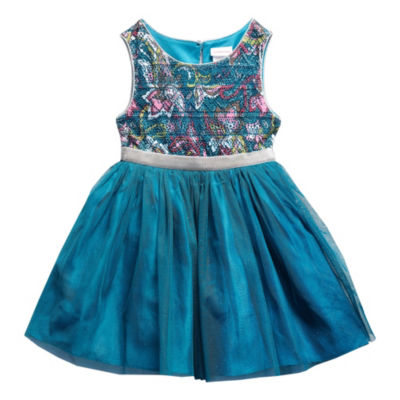 Young Land Sleeveless Tutu Dress - Toddler Girls