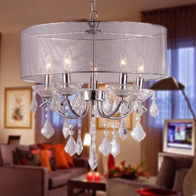 Warehouse Of Tiffany Crystal 5-light Pendant Lamp