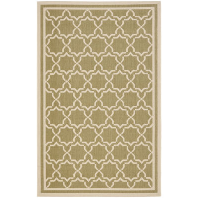 Safavieh Courtyard Collection Caymen Oriental Indoor/Outdoor Area Rug