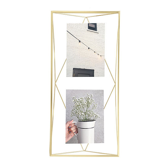 Umbra Prisma Photo Display 3 Openings Brass 3-Opening Tabletop Frame