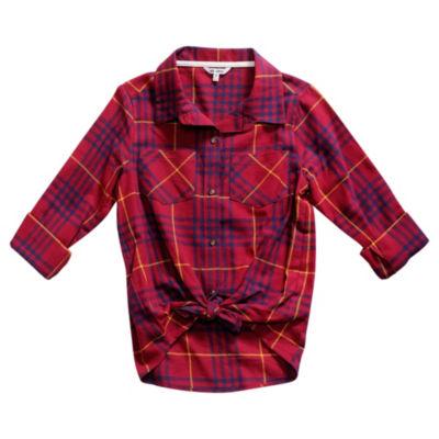 Obsess Long Sleeve Button-Front Shirt Girls