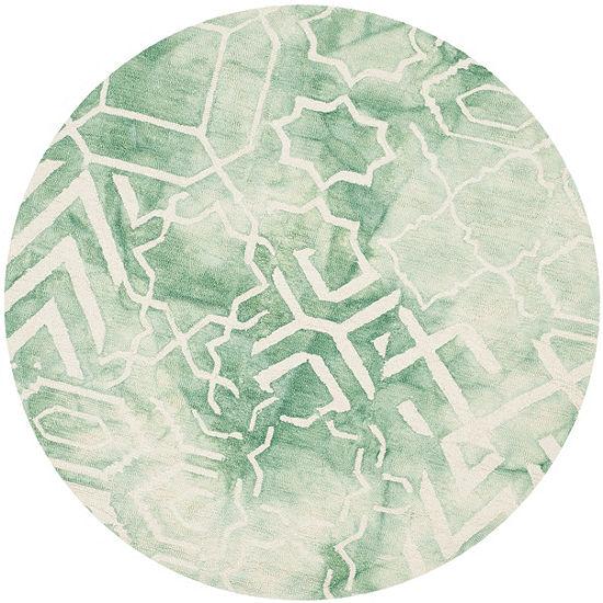 Safavieh Dip Dye Collection Venice Chevron Round Area Rug