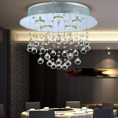 Warehouse Of Tiffany Marks Crystal 4-light Chrome Chandelier