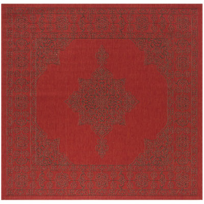 Safavieh Courtyard Collection Trena Oriental Indoor/Outdoor Square Area Rug