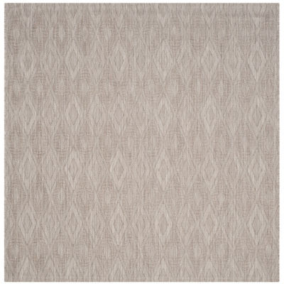 Safavieh Courtyard Collection Elisa Geometric Indoor/Outdoor Square Area Rug