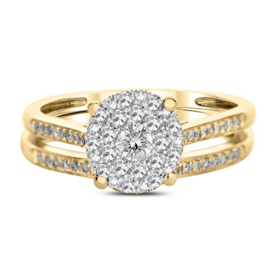 Womens 1/2 CT. T.W. White Diamond 14K Gold Bridal Set
