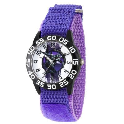 Black Panther Boys Purple Strap Watch-Wma000279