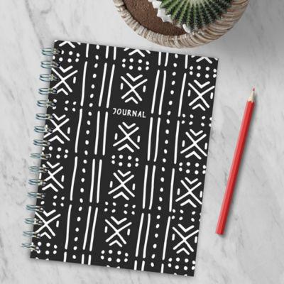 TF Publishing Black Moroccan Spiral Journal
