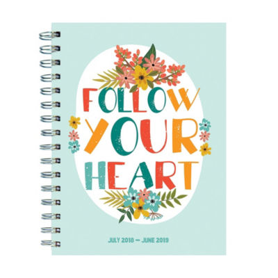Tf Publishing July 2018 - June 2019 Heart Medium Weekly Monthly Planner