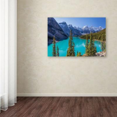 Trademark Fine Art Pierre Leclerc Turquoise Moraine Lake Giclee Canvas Art