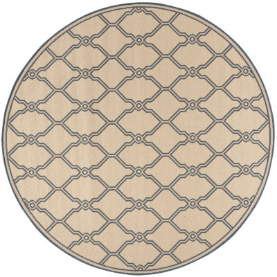 Safavieh Linden Collection Mark Geometric Round Area Rug