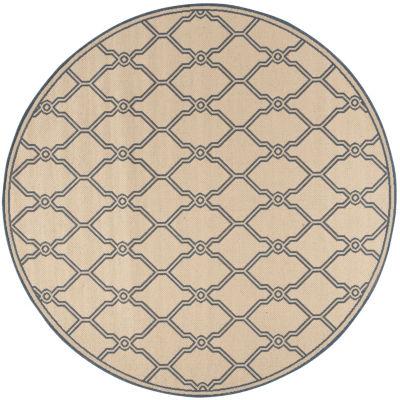 Safavieh Linden Collection Mark Geometric Round Area Rug