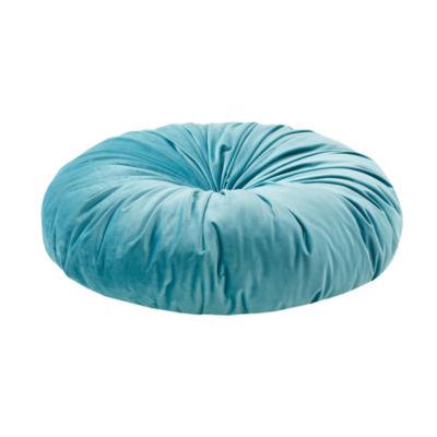Intelligent Design Aliza Poly Velvet Round Floor Pillow Cushion