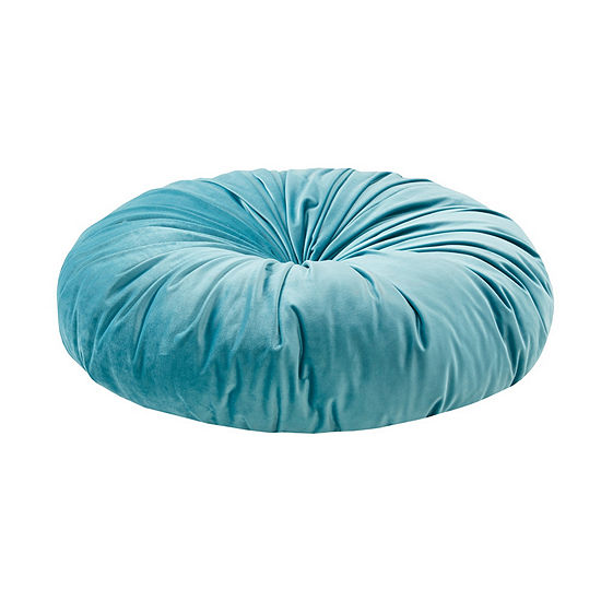 Intelligent Design Aliza Poly Velvet Round Floor Pillow Cushion