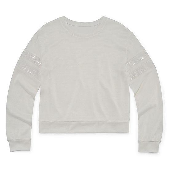 Arizona Long Sleeve Fashion Sweatshirt - Girls' 4-16 & Plus