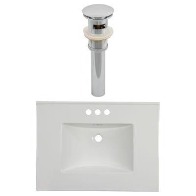 30.75-in. W 3H4-in. Ceramic Top Set In White Color- Overflow Drain Incl.