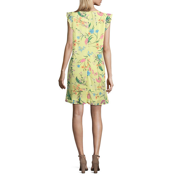 Belle + Sky Sleeveless Ruffle Floral Dress