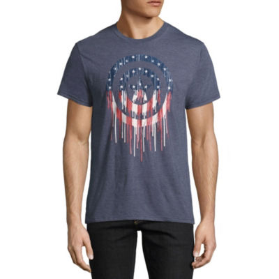 Fourth of July Avengers Captain Shield Graphic Tee