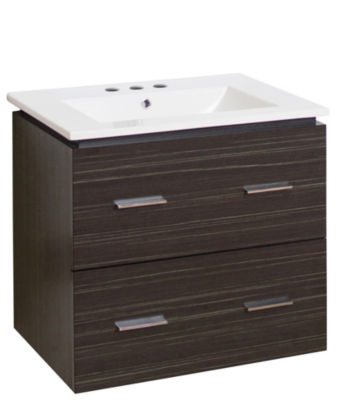 23.75-in. W Wall Mount Dawn Grey Vanity Set For 3H8-in. Drilling