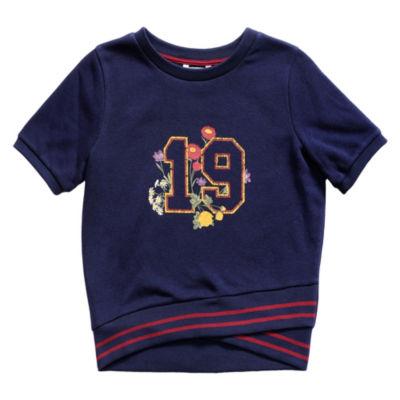 Obsess Short Sleeve Sweatshirt - Big Kid Girls