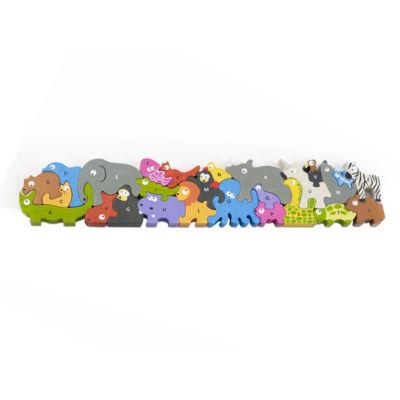 Beginagain Toys Animal Parade A-Z Jumbo Wooden Puzzle