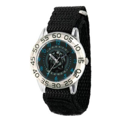 Black Panther Boys Black Strap Watch-Wma000280