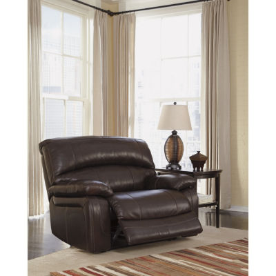 Signature Design By Ashley® Damacio Oversized Leather Power Recliner