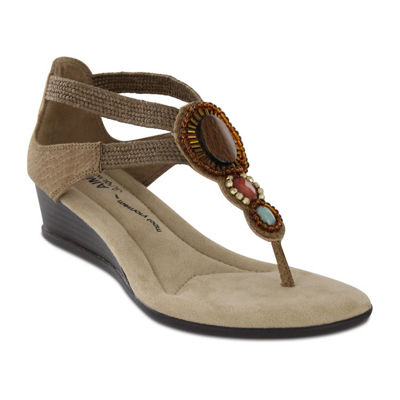 Mia Amore Baylee Womens Wedge Sandals