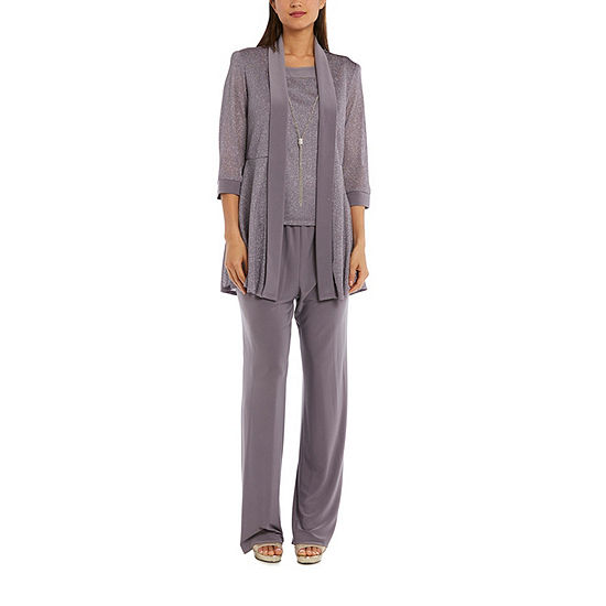 R & M Richards 2 Pc Metallic Pant Suit