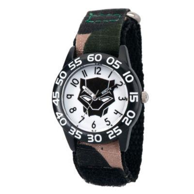 Black Panther Boys Black Strap Watch-Wma000281