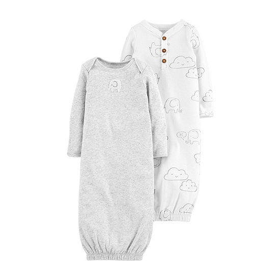 8a2caf7b5679 Carters Little Baby Basics Long Sleeve Nightgown Baby Unisex JCPenney