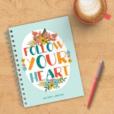 July 2018 - June 2019  Heart Medium Weekly MonthlyPlanner