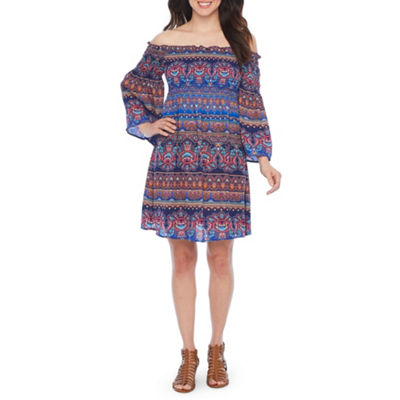 Nicole By Nicole Miller Nicole By Nicole Miller Long Sleeve Shift Dress