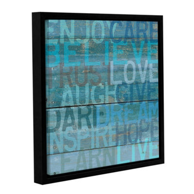 Life Laugh Floater-Framed Gallery Wrapped Canvas
