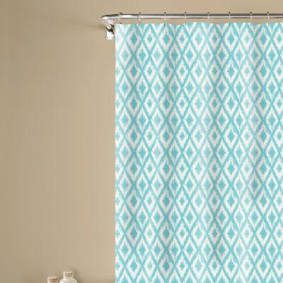 Inspired Surroundings Ikat Shower Curtain