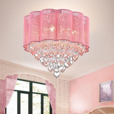 Warehouse Of Tiffany Eos 6-Light Chrome Ceiling Lamp