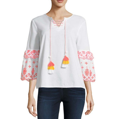 a.n.a Embroidery Top - Tall