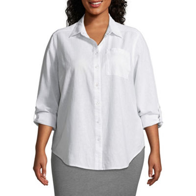 Liz Claiborne Studio Tunic Shirt- Plus