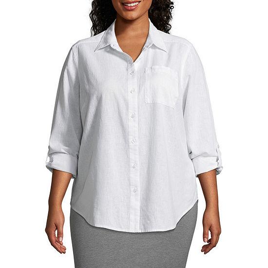 Liz Claiborne Studio Tunic Shirt- Plus