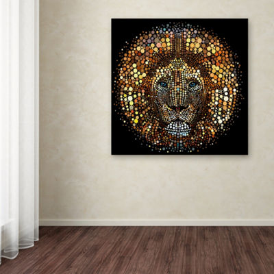 Trademark Fine Art ALI Chris Paint Dawb Lion Giclee Canvas Art
