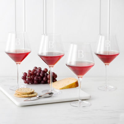Cathy's Concepts 4-pc. Personalized Wine Glass