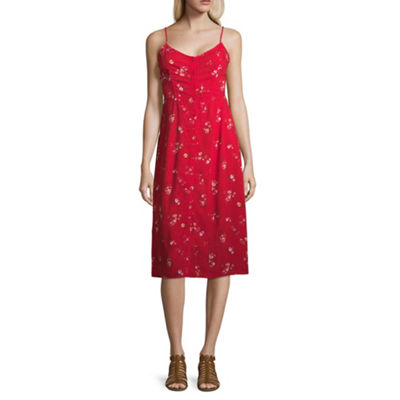 Arizona Sleeveless Slip Dress-Juniors