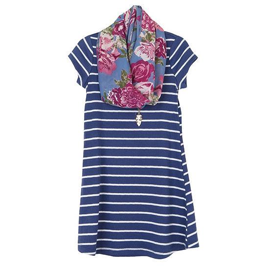 Arizona 2-pc. Girls Short Sleeve A-Line Dress