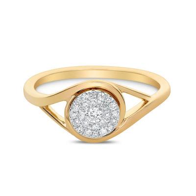 Womens 1/7 CT. T.W. Genuine White Diamond 14K Gold Engagement Ring